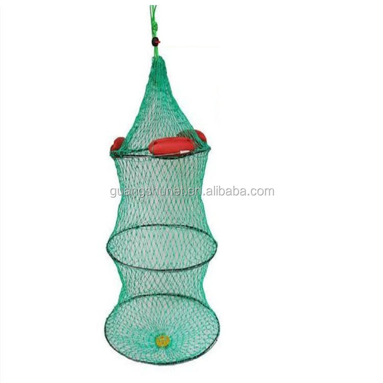 Fishing Keep Net Cage Fish Keeper Foldable Small Mesh Fish Creel