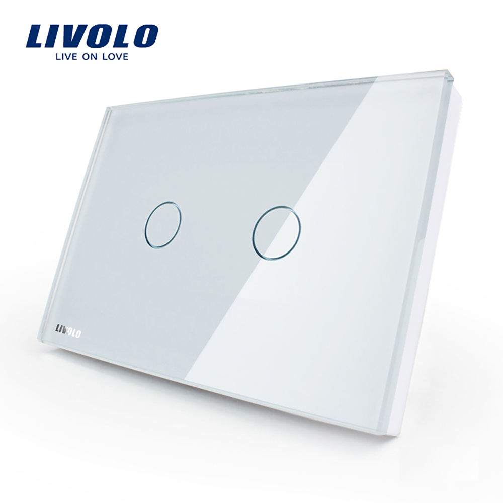 Livolo VL-C302IR-81 220 V Wireless Kontak Kering Port Touch Smart Remote Control Dinding Lampu