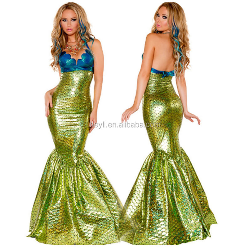 Beautiful colored mermaid performance costume for party carnival costume sexy women's party performance costume