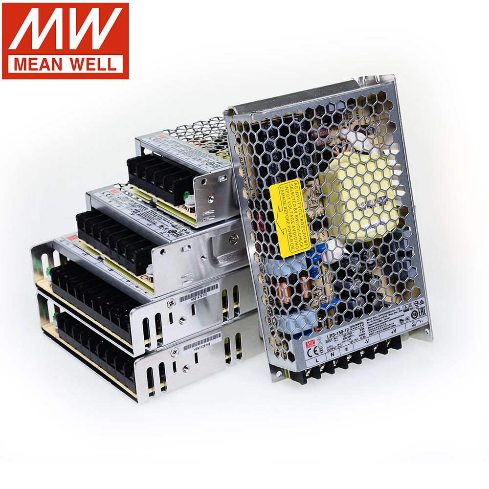 Gratis Pengiriman 24V DC Meanwell LED Switching Power Supply LRS-35/50/75/100/150/ 200/350-24 110 220V AC 24VDC Smps Switch Mode