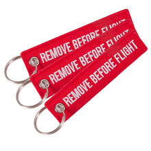 Mini tag keychains Remove before flight Twill keychain Embroidered Remove before flight - Cessna key ring key chains