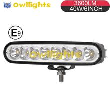 "Emark R10 6"" 40W 3600lm Mini Led light bar 12V 24V 6'' 18w LED Daytime Running Light for cars 4x4 Tractor,"