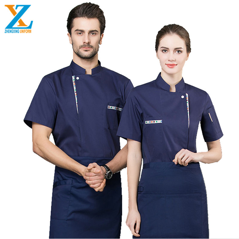 OEM high-quality Japanese chef system uniforms grey kitchen clothing for the restaurant