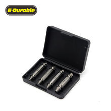 E-Durable Damaged Screw Remover and Extractor Set, Double-end Stripped Screws Remover Bolt Extractor woodworking tool Kit