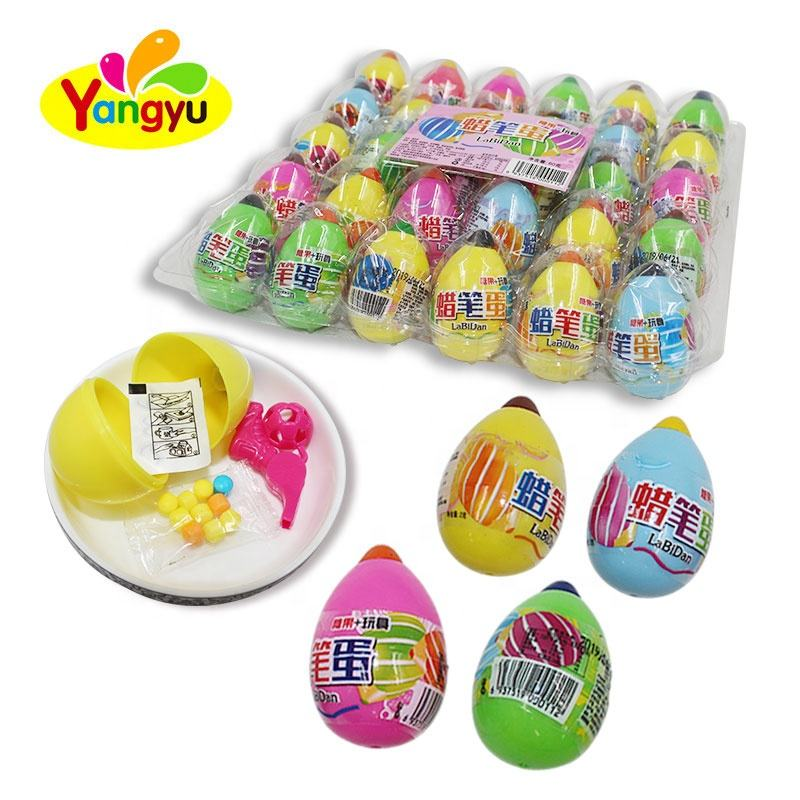 Funny Crayon Eggs Toy Surprise Toy With Candy
