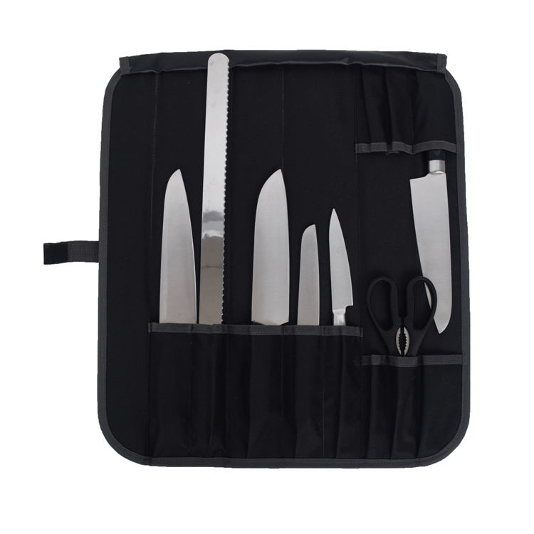 Foldable Kitchen Chefs Cooking Knife Storage Tool Roll Set Bag with Tool Pockets