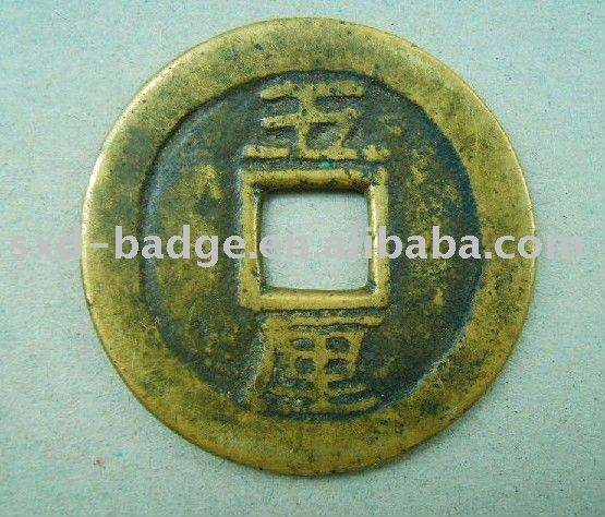 zinc alloy old china coin in stock