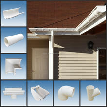 Roof half round gutter/ pvc gutter price/ plastic rain water gutters