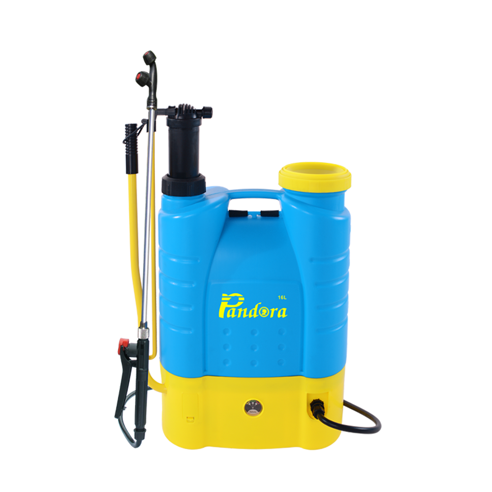 Agriculture battery and manual pesticide boom 2-in-1 16liter sprayer