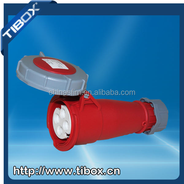 2015 Newly developed TIBOX power IEC waterproof 4P 400V industrial plug and sockets