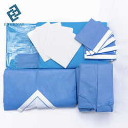 china manufacturer disposable sterile absorbent thyroid surgical drape pack/set