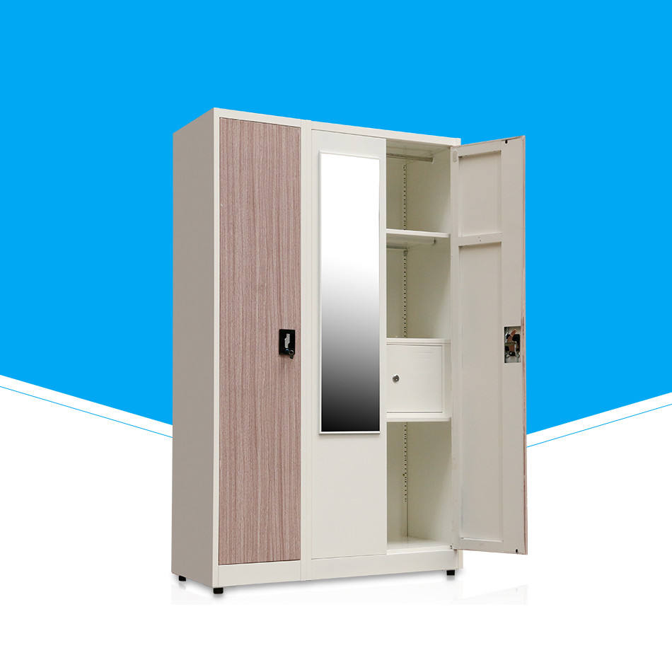 Steel Bedroom Furniture Clothes 2 Door Metal Wardrobe