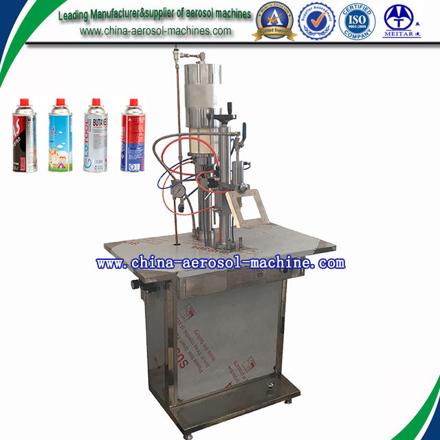 Pneumatic [ Gas Filling Machine ] LPG Gas Cartridge Aerosol Filling Machine