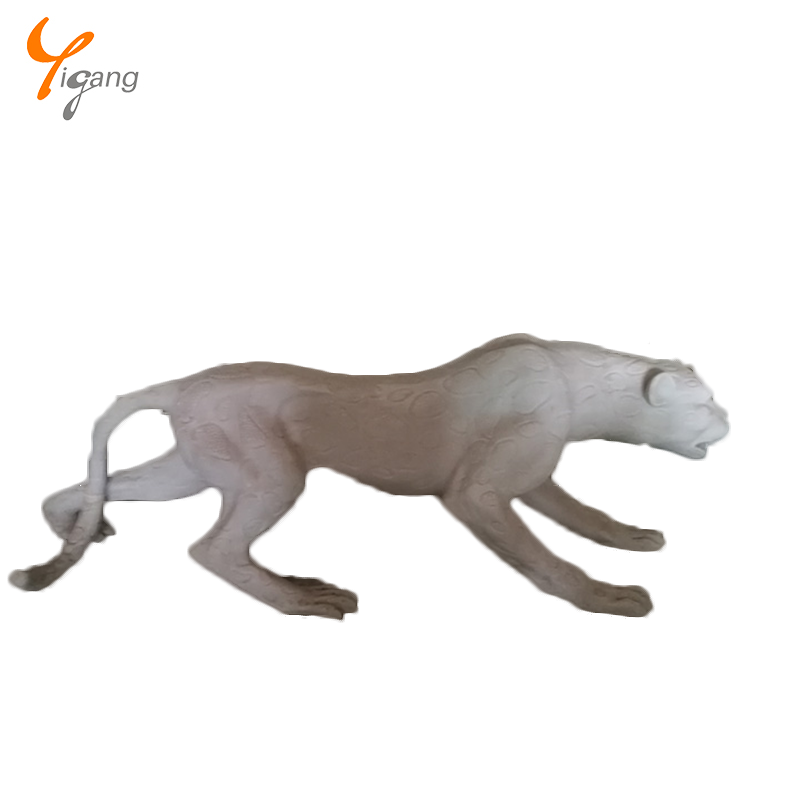 Leopard unpainted resin statue garden animal statue