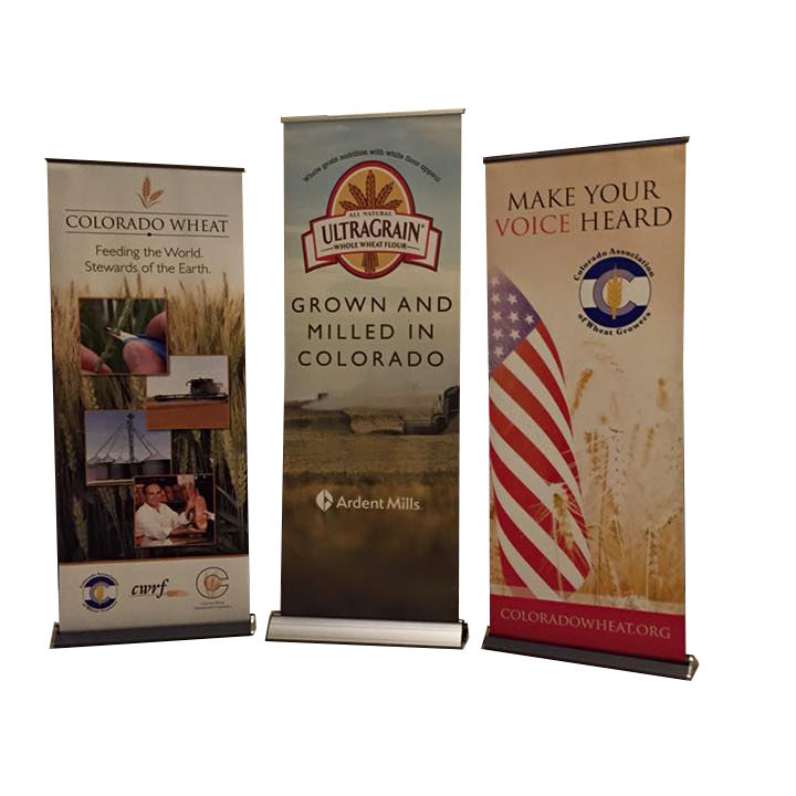 Factory Improved outdoor custom logo pull up banner stands