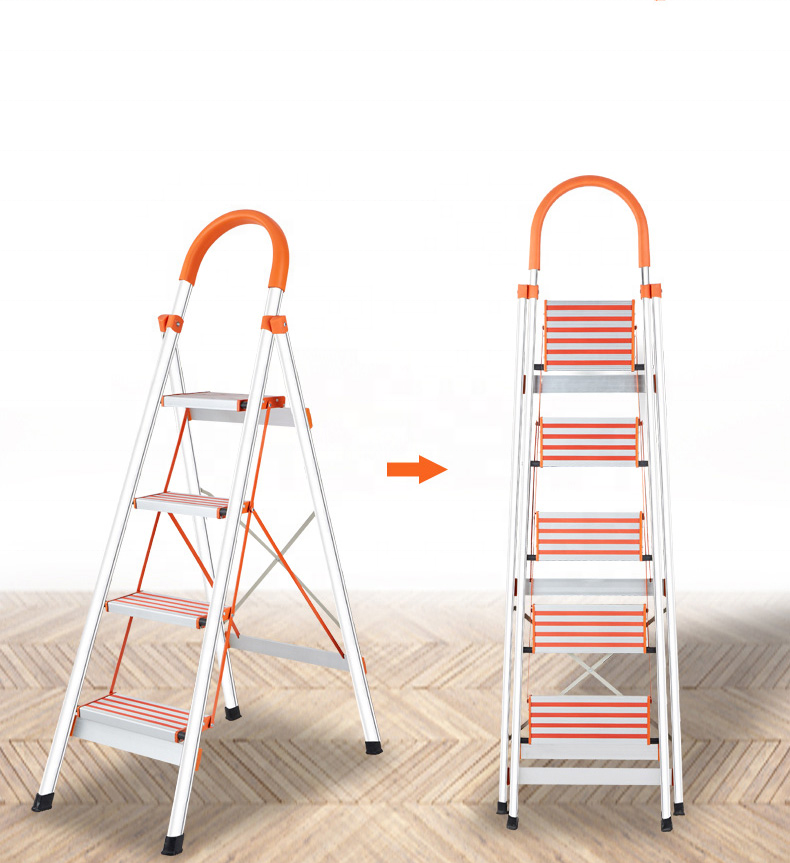 Aluminium Folding 2/3/4/5/6 Steps Household Kitchen Safety Step Ladders
