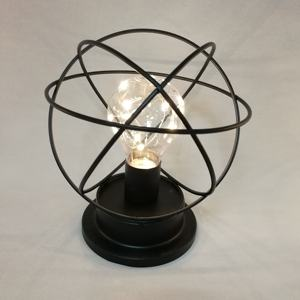 Edison Bulb Black Iron Cage Small Warm White Home Decoration LED Lights