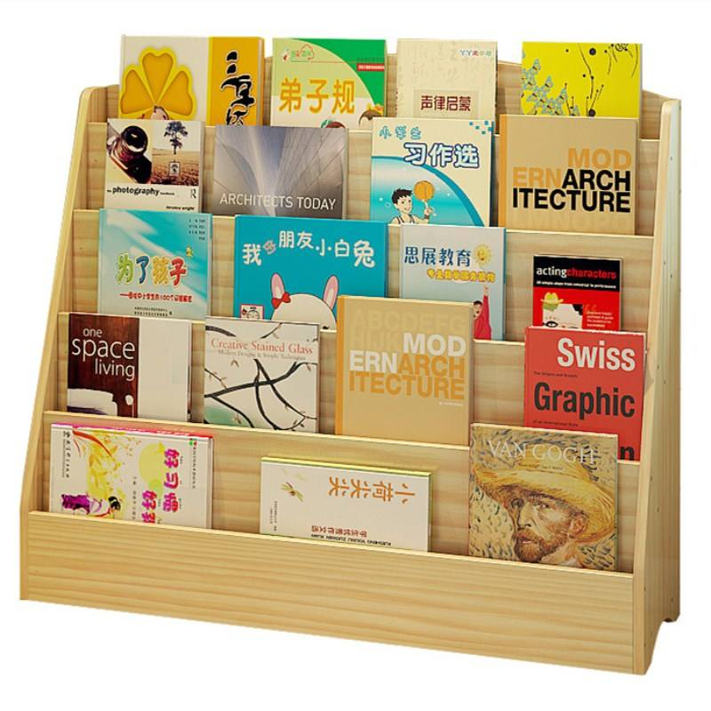 Multi-layer Wooden Kids Book Rack