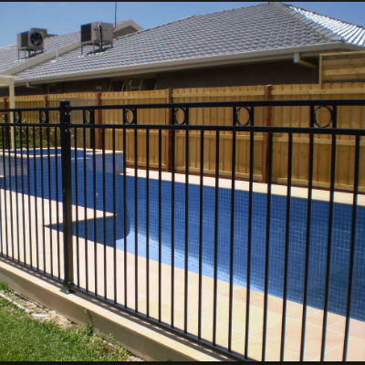 cheap child proof safety/security wrought iron metal fencing and gates design for sale