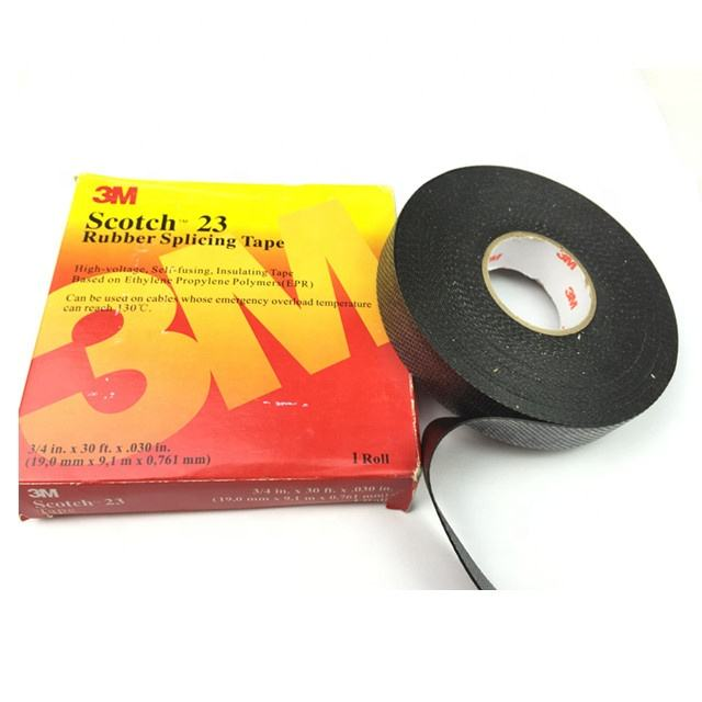 Black Super Durable Vinyl PVC Electrical Rubber High And Low Voltage Splicing Insulation Self-Fusing EPR 3M 23 Tape