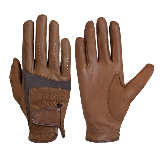 Super soft cabretta leather horse riding gloves / New design Breathable riding gloves equestrian