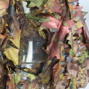 Custom 3D leaf camo woodland digital camouflage clothing military uniform ghillie suit fabric for hunting