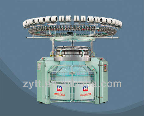 Textile high speed single or double Jersey Circular Knitting Machine