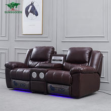 Custom 4 Seats Home Theater Seating Recliner Sofa, Home Theater Recliner Sofa Leather, Home Theater Loveseat Chair