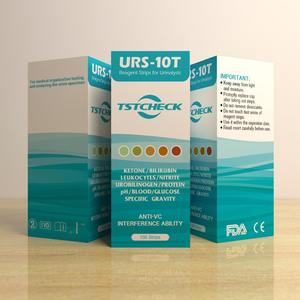 New brand URS-10T, urine test strips 10 parameters Nitrite pH Protein Blood Ketone Glucose...