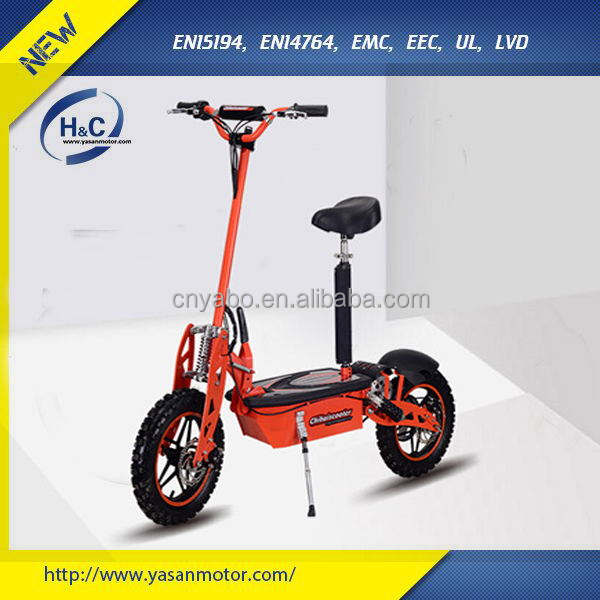 Chinese electric scooter car with big wheels 1500W 48V brushless folding mobility travel scooter