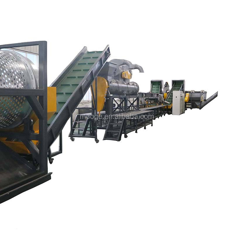 Plastic PET bottle recycling line/waste recycling machine for PET bottle