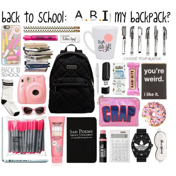 OEM Custom design fashion girl back to school bag stationery set