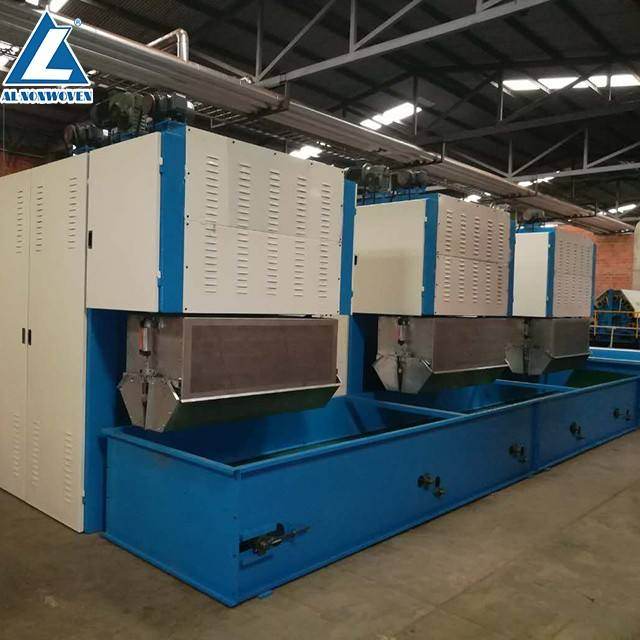 Nonwoven Felt Needle Punching Machines Production Line For Making Wasted Felt/Carpet/Geotextile Nonwoven Fabric