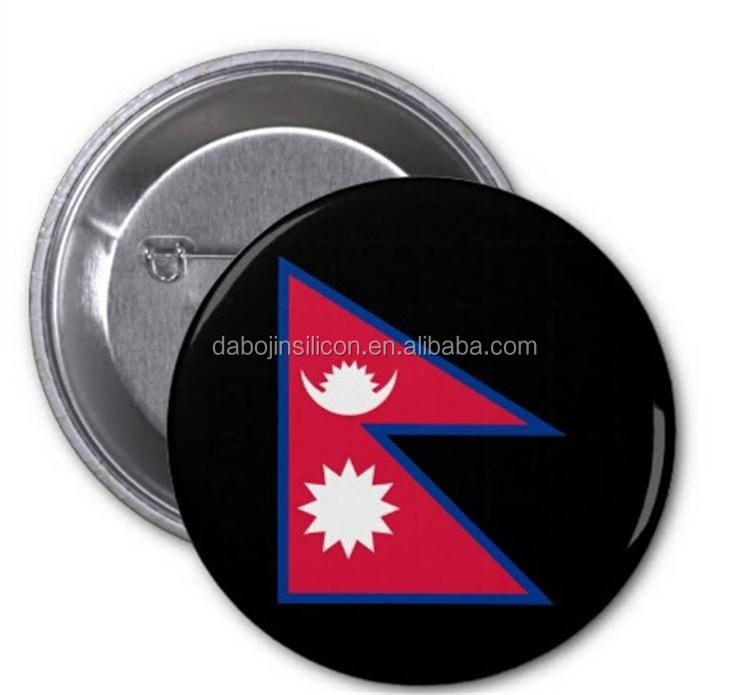 Made in china factory fashion Nepal flag brooch pin