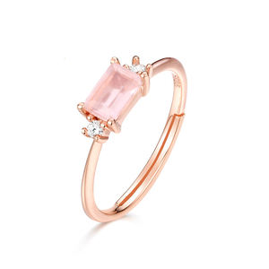 925 Sterling Silver rose gold Gemstone Gold Vermeil Rings Handmade rings