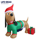 4FT Outdoor Christmas Inflatable Dachshund Decoration
