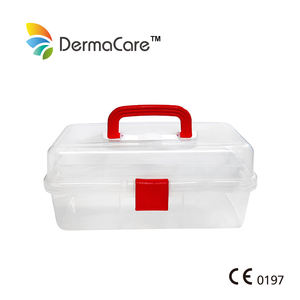 Large Portable PP Empty Three Layer Stand First Aid Box Case Construction Office Home Used Tools Storage Box