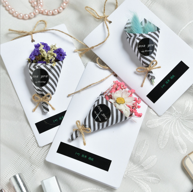 Manufacturer's direct selling creative handmade flower cluster folding cards Greeting card Invitation cards for high-end wedding