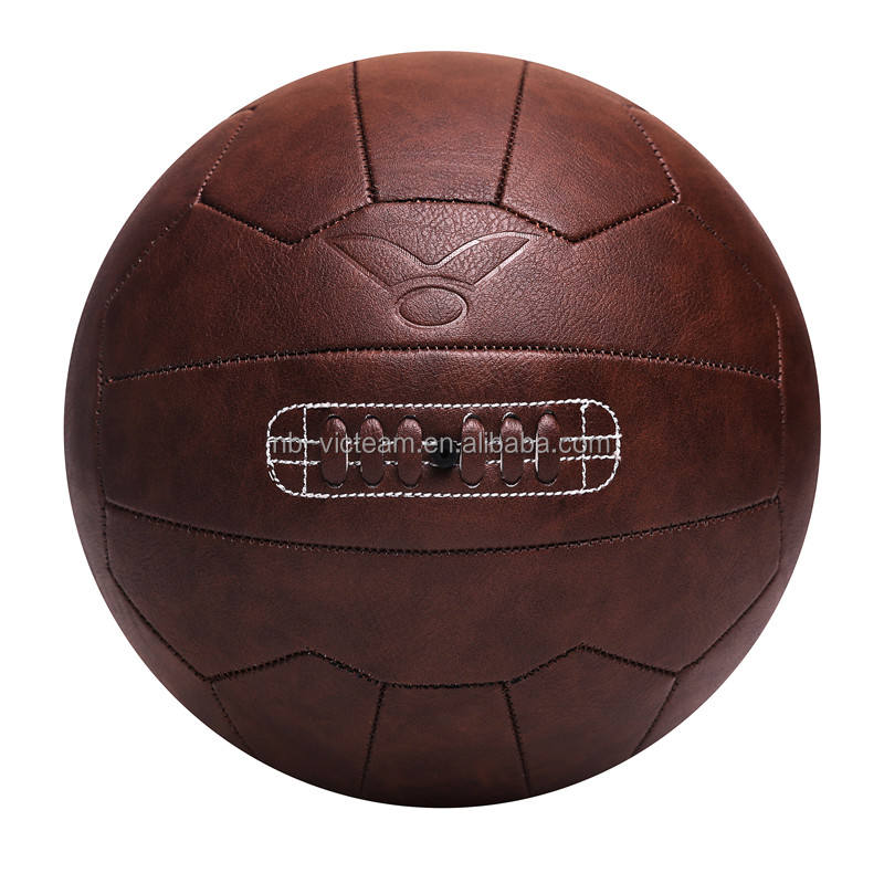 Promotional Brown Antique Leather Retro Soccer Ball Wholesale,Old Fashion Vintage Souvenir Football