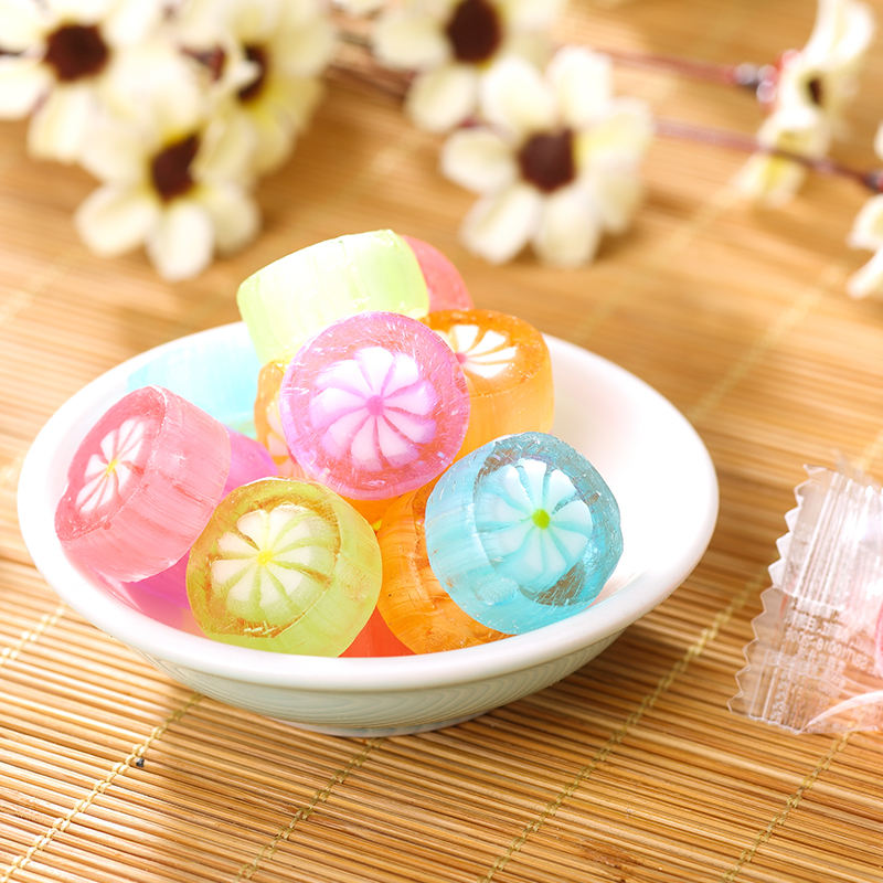 Yibang Cute Design Green Candy Cherry Blossom Pattern High Quality Sweets In Bulk