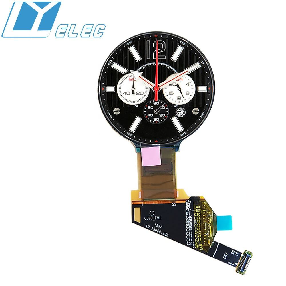 1.39'' inch 400x400 auo round AMOLED wearable circular color oled 20 pin MIPI DSI smart watch small lcd display screen module