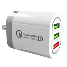 QC3.0 Wall Adapter  USB Phone Fast Charger 3 usb ports adapter
