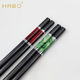 China agate style porcelain decoration metal ring chopsticks for gift