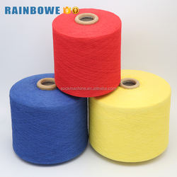 China yarn supplier high quality Ne 6s dyed recycle cotton y