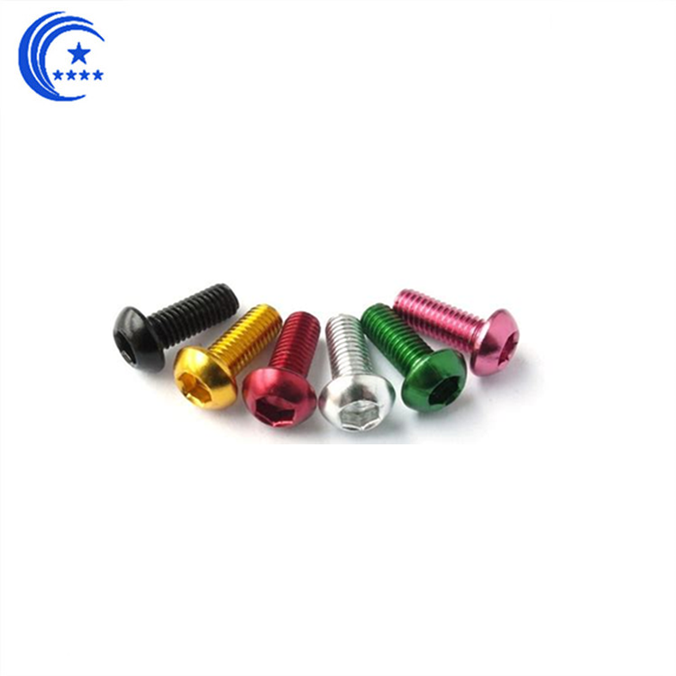 Colorful Aluminum Screw Socket Head Machine Screw Titanium screw