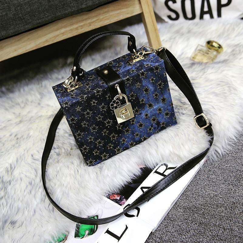 Wholesale Famous Brand Luxury Handbags Designer Women Shoulder Bags Blue Messenger Bags Small Box Bag Clutch Star Handbag