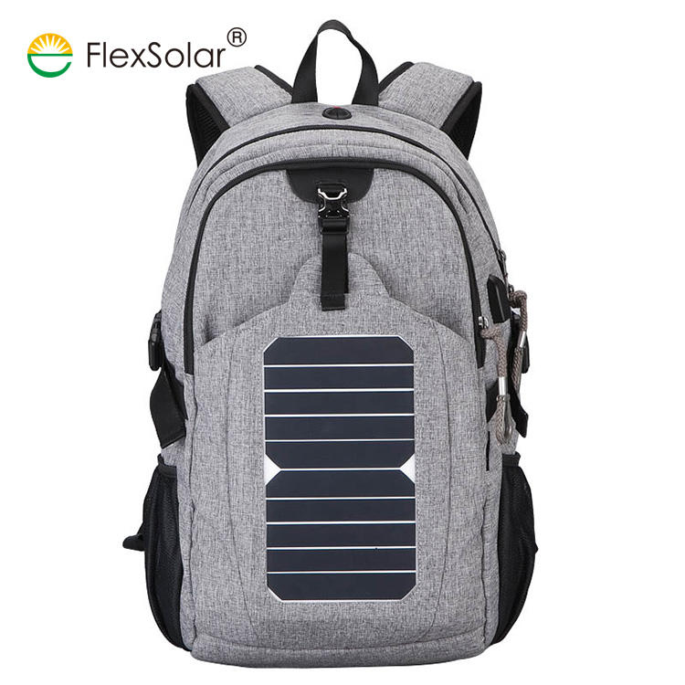 High Quality Waterproof Solar Backpack Camping Traveling Bagpack With Solar Charger