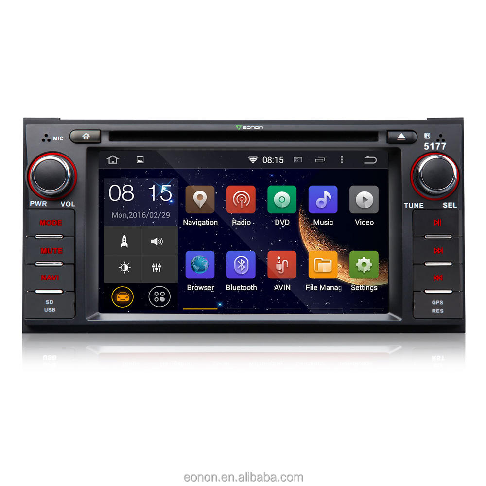 EONON GA5177F voor Jeep/Chrysler/Dodge Android 4.4.4 Quad-Core 6.2 inch Multimedia Auto DVD GPS met wederzijdse Controle EasyConnection