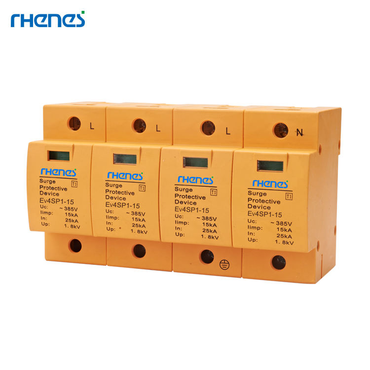 CB CE approved T1 Type 15KA 4P+N+E 4+0 385v spd surge protector Patent Protection
