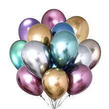 Factory direct selling 12'' 100% latex balloon standard pastel chrome metallic color plain latex balloons